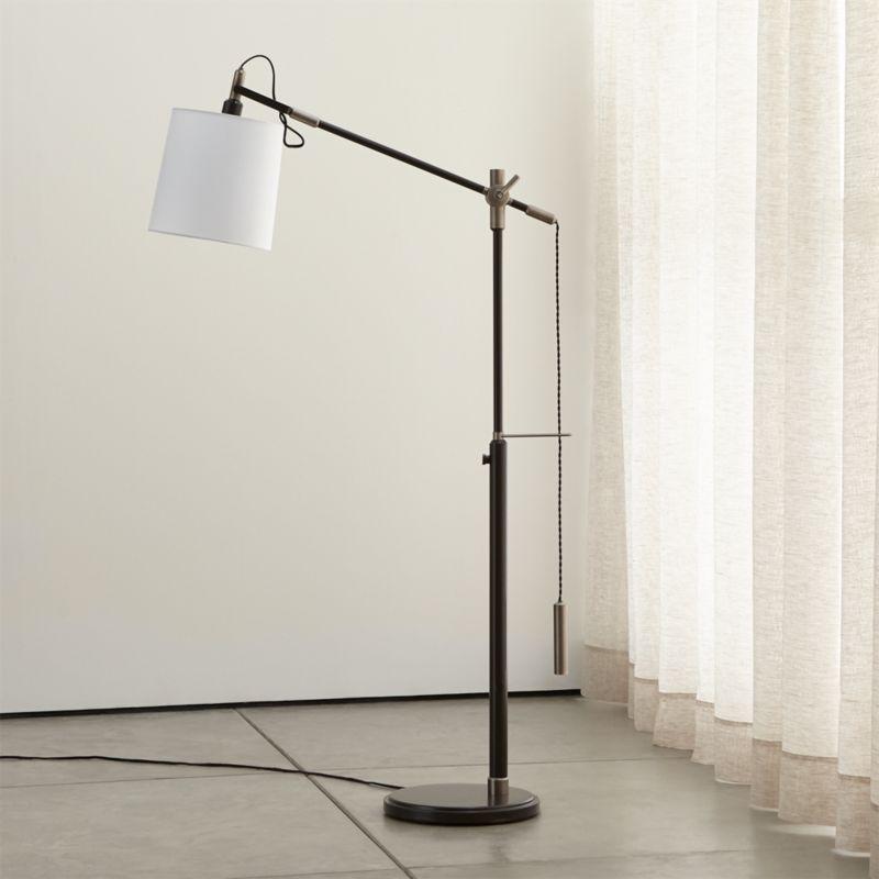 Adjustable Glass Floor Lamp