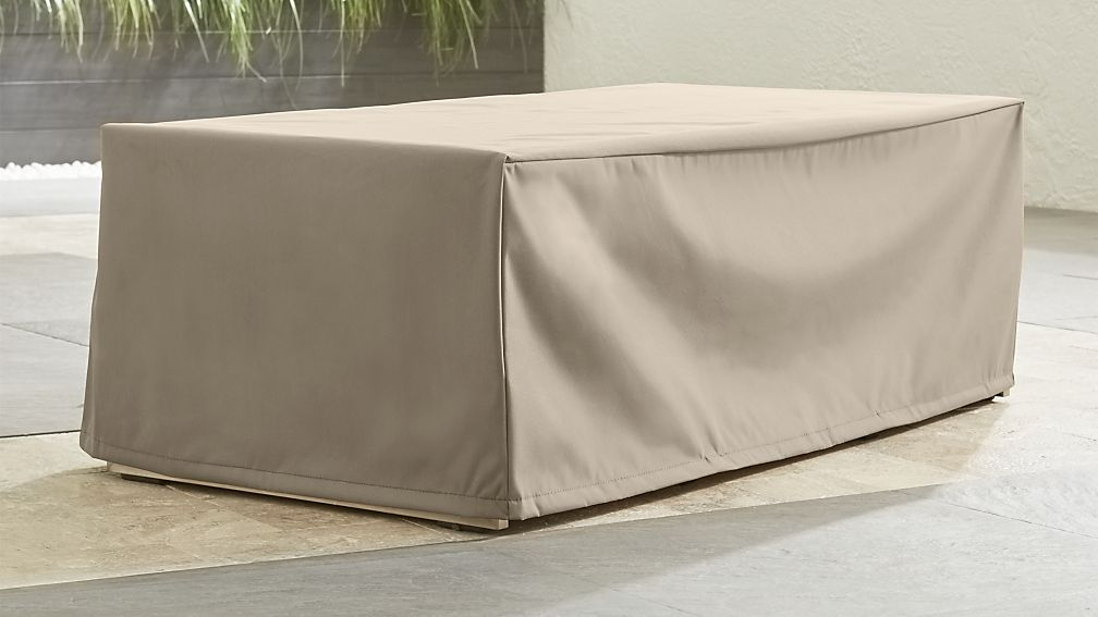 Outdoor Rectangular Coffee Table Cover Crate And Barrel
