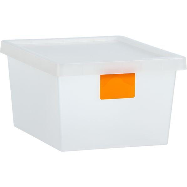 21 Liter Orange Tag Store Bin