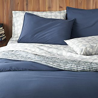 Tiago Stonewash Blue Duvet Covers and Pillow Shams