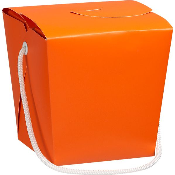 Orange-Magenta Take-Out Box
