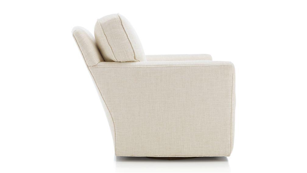 Talia Swivel Chair Gibson Oatmeal Crate And Barrel