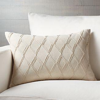 "Talori 22""x15"" Pillow with Feather-Down Insert"