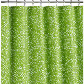 Crate and Barrel - Marimekko (r) Tamara Green Shower Curtain ...