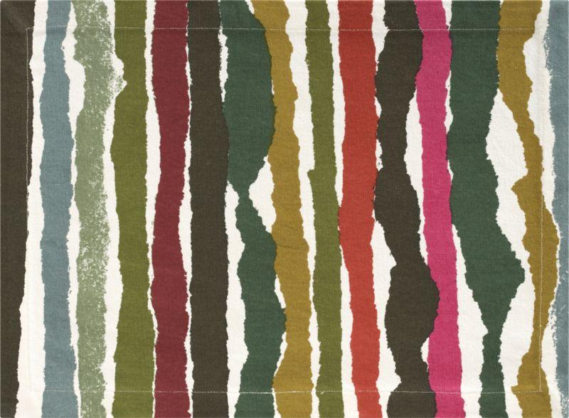 Fresh organic washes array in an earthy palette of green, ochre, grey and brick.  Pattern is screenprinted on 100% cotton.<br /><br /><NEWTAG/><ul><li>100% cotton</li><li>Machine wash; dry flat, warm iron as needed</li><li>Made in India</li></ul>