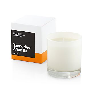A flicker of fragrance to renew home and spirit. Our exclusive collection of handpoured, soy-blend candles brings together unique scent pairings to express your style and mood. The sweetness of tangerine and vanilla mingle with essences of fresh berries, apples, rose, violet, carnation, raspberry and musk in a fresh, uplifting fragrance.
