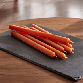 Orange Taper Candles Set of 6