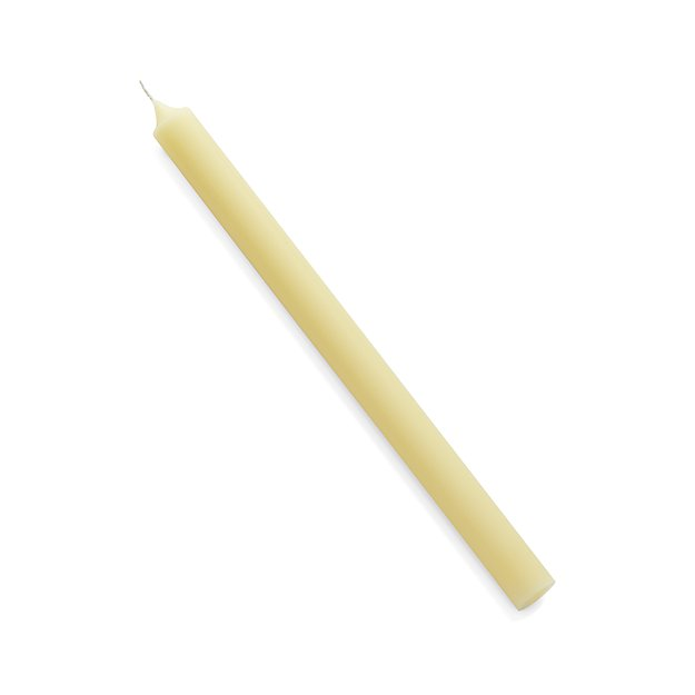 "Ivory 12"" Taper Candle"