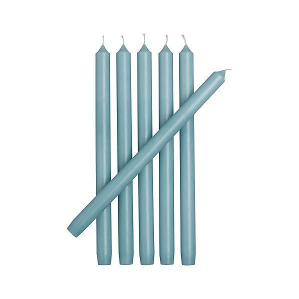 Set of 6 Aquatic Taper Candles