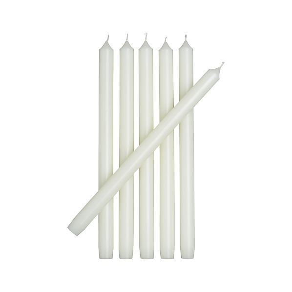 Set of 6 Ivory Taper Candles