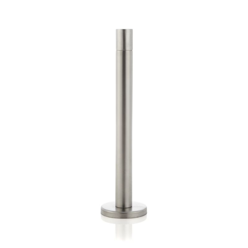 Sleek column mimics traditional taper candles, lighting the way to a totally modern torch. Stainless-steel torches are weighted with a concrete-filled base. Synthetic wicks last for the life of the lamp and need no replacing.<br /><br /><NEWTAG/><ul><li>Stainless steel with zinc finish</li><li>Concrete</li><li>Synthetic wick</li><li>Burns mineral or citronella oil (not included)</li><li>For outdoor use only</li></ul>