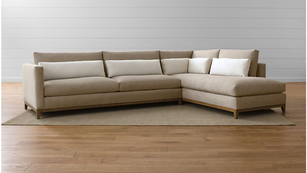 Taraval 2-Piece Sectional with Oak Base