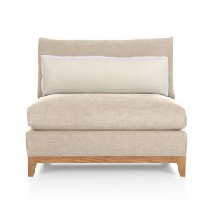 Taraval Sectional Armless Chair with Oak Base