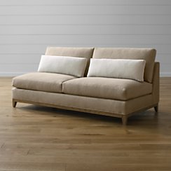 Taraval Armless Loveseat with Oak Base