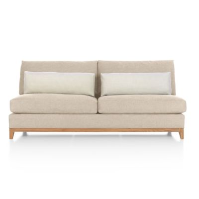 Taraval Sectional Armless Loveseat with Oak Base