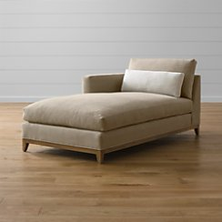 Taraval Left Arm Chaise with Oak Base
