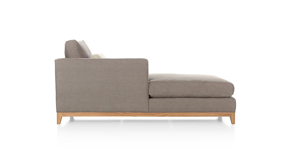 Taraval Sectional Left Arm Chaise Lounge with Oak Base