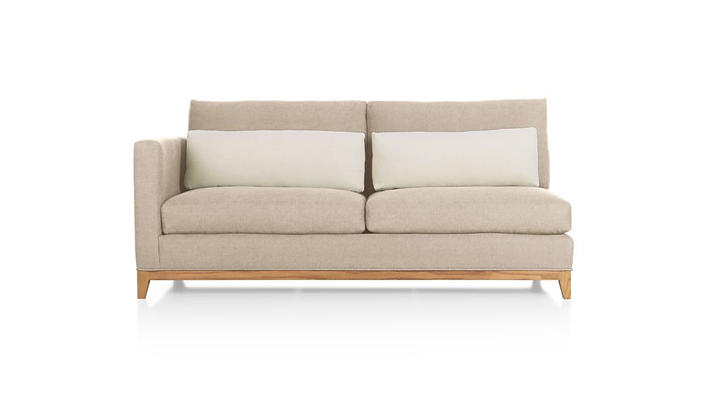 Taraval Left Arm Loveseat with Oak Base