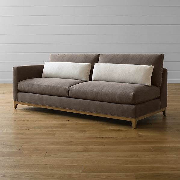 Taraval Sectional Left Arm Sofa with Oak Base
