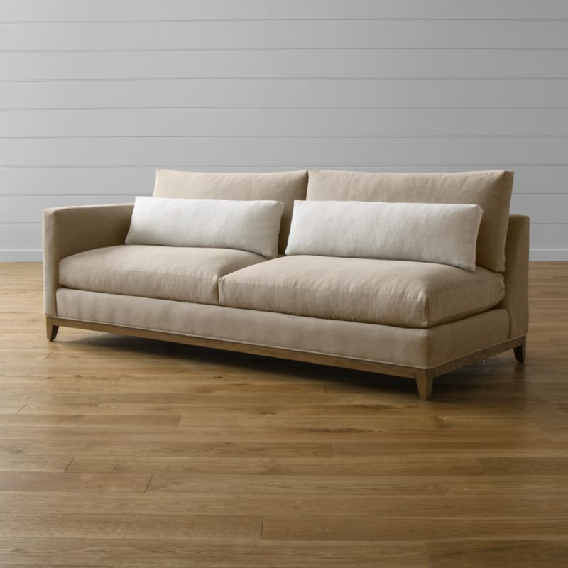 Taraval Left Arm Sofa with Oak Base