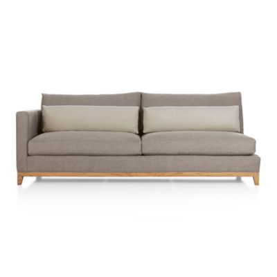 Taraval Sectional Left Arm Sofa with Oak Base