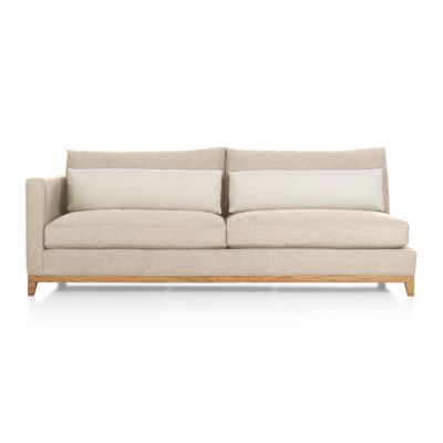 Taraval Sectional Left Arm Loveseat with Oak Base