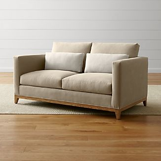 Taraval Loveseat with Oak Base