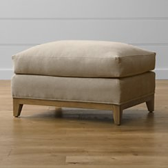 "Taraval 30"" Ottoman with Oak Base"