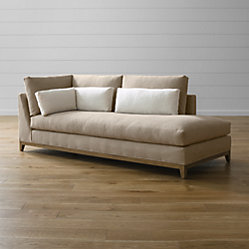 Taraval Three Seat Couch With Oak Base Crate And Barrel