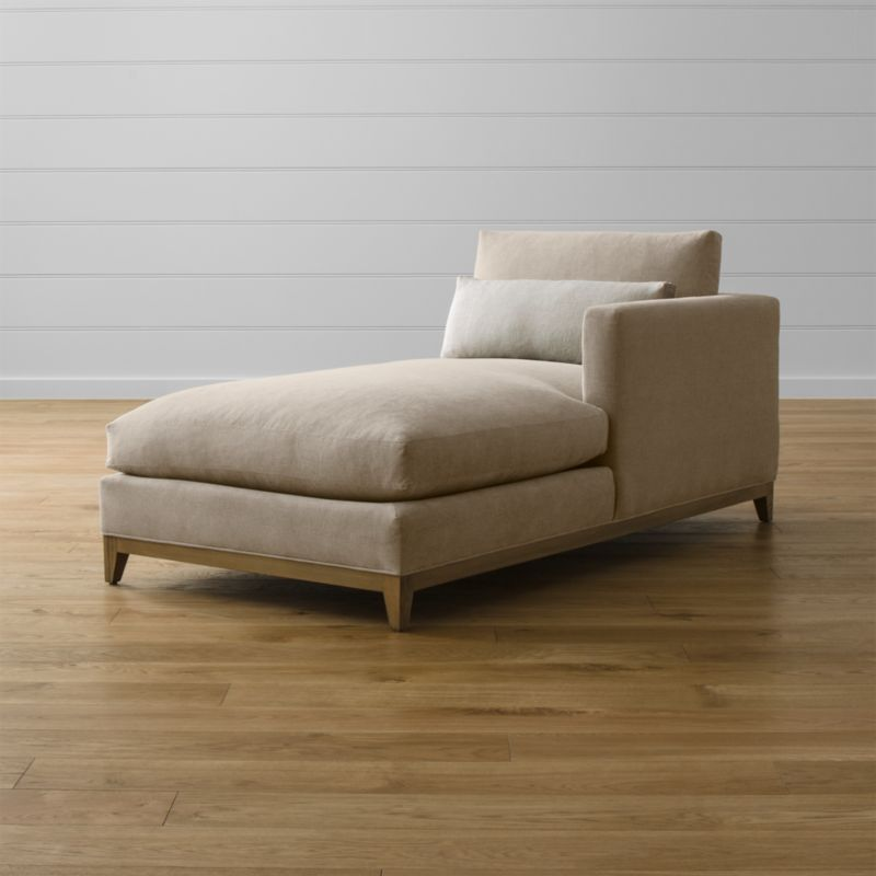 Taraval Right Arm Chaise with Oak Base