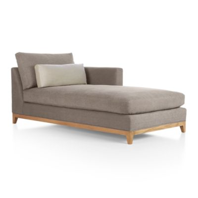 Taraval Sectional Right Arm Chaise with Oak Base