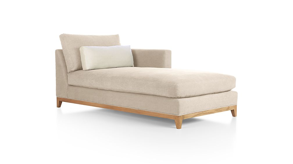 Taraval Right Arm Chaise with Oak Base Tote: Putty | Crate ...