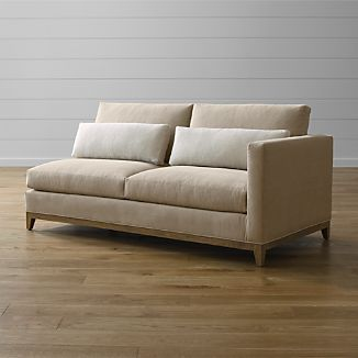 Taraval Right Arm Loveseat with Oak Base