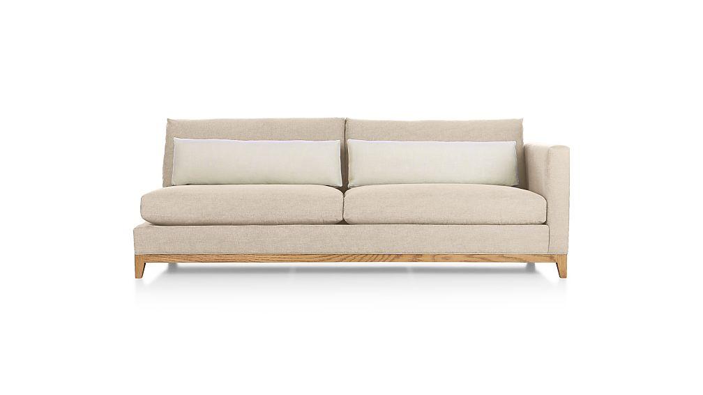 Taraval Right Arm Sofa with Oak Base