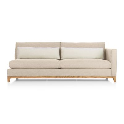 Taraval Sectional Right Arm Sofa with Oak Base