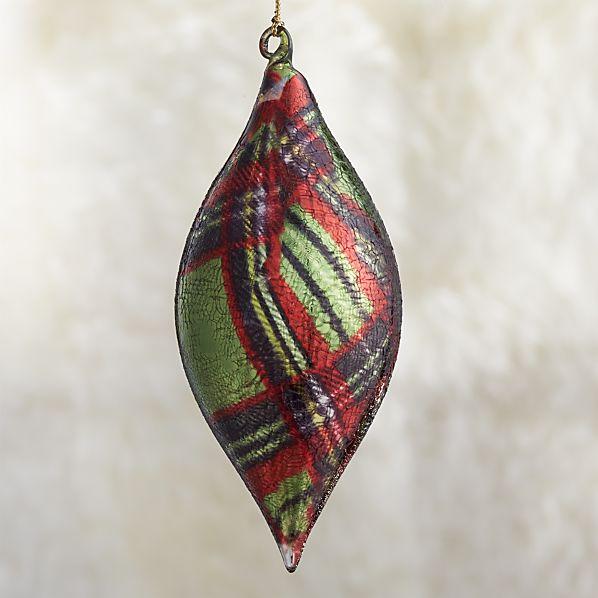 Tartan Drop Ornament