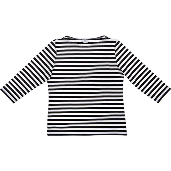 Marimekko Tasaraita Ilma Black and White 3/4-Sleeve Small Tee
