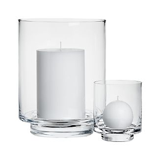 Taylor Glass Hurricane Candle Holders