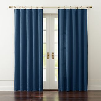 Taylor Midnight Blue Curtains