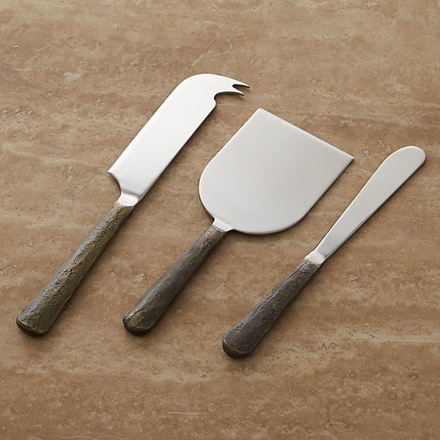 Taz Cheese Knife 3 Piece Set Crate And Barrel
