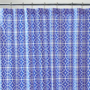 Taza Blue Shower Curtain