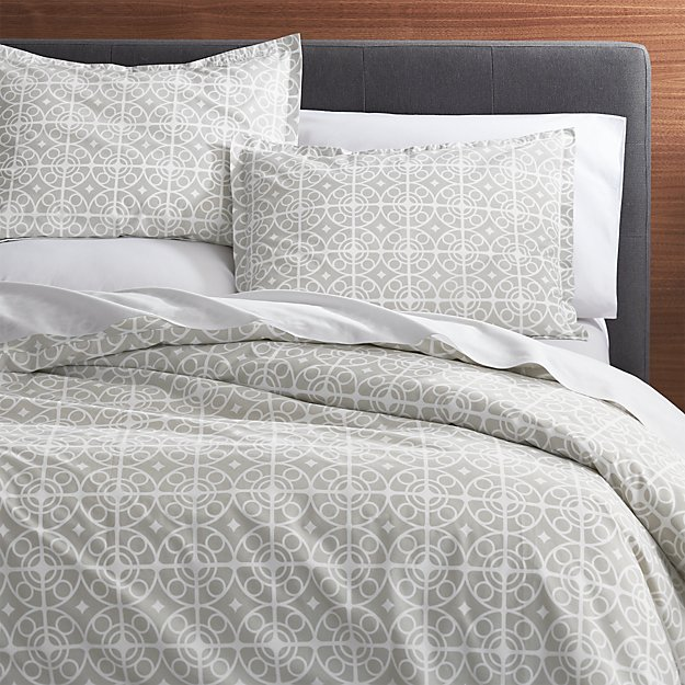 Taza Grey King Duvet Cover Crate And Barrel