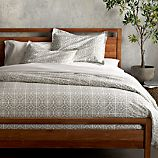 Taza Grey Full/Queen Duvet Cover