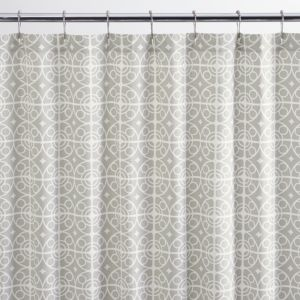 Taza Grey Shower Curtain