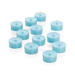 Set of 12 Aqua Tea Lights