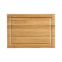 FSC Teak Small Rectangular Cutting Board with Well