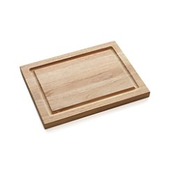 "FSC Teak 5""x10"" Cutting Board with Well"