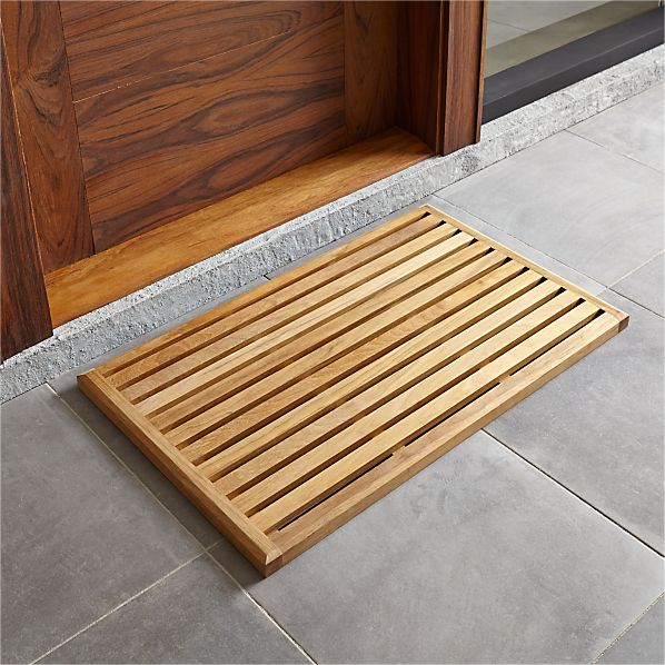 Crate And Barrel Bath Rugs: Teak Mat