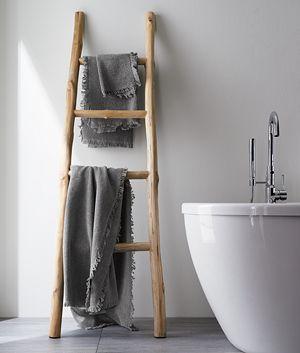 Fringe Grey Bath Towel