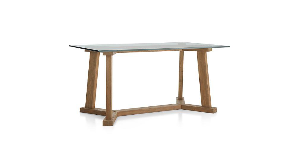 Teak Reclaimed Wood Dining Table with 60quotx36quot Rectangular  : TeakRcTstlBs60x36GlsTpDnTb3QF16 from www.crateandbarrel.com size 1008 x 567 jpeg 17kB